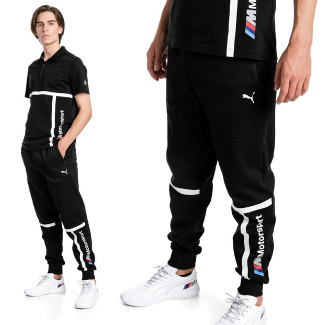BMW MMS Sweat Pants, Color: black, Material: cotton, polyester