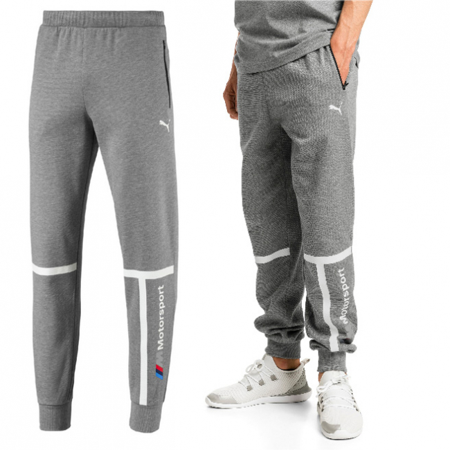 BMW MMS Sweat Pants, Color: gray, Material: cotton, polyester