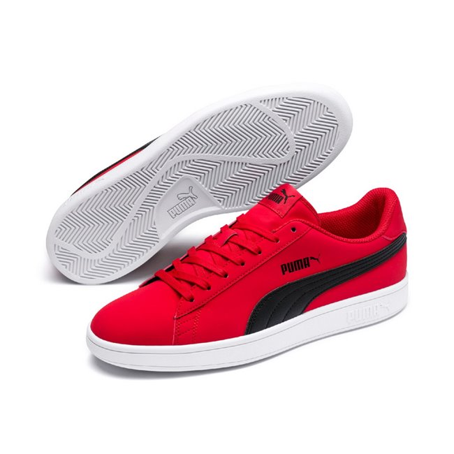 PUMA Smash v2 Buck shoes, Color: red, Material: Synthetic leather