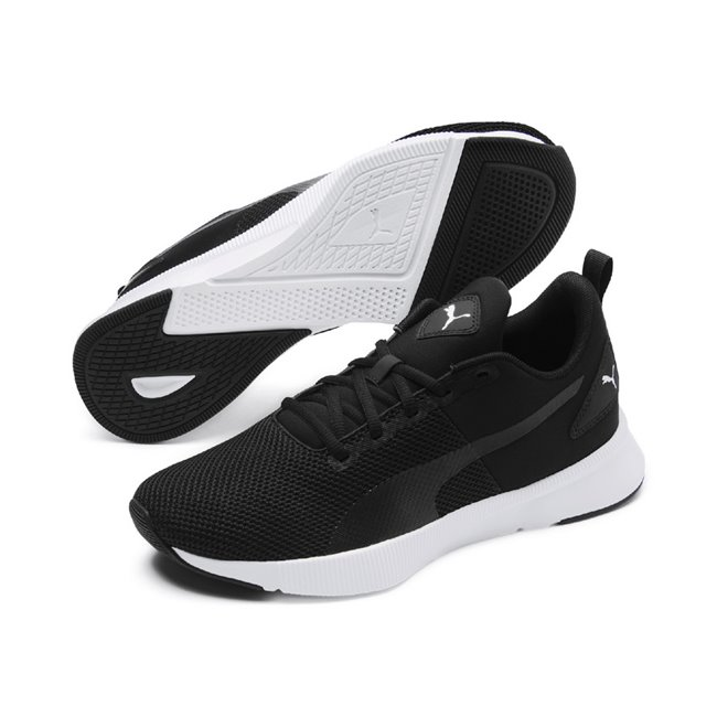 PUMA FLYER RUNNER shoes, Colour: black, black, white, Material: Upper: fabric, mesh, Midsole: SOFTFOAM foam, Sole: rubber
