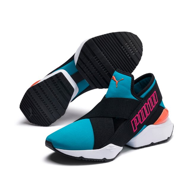 PUMA Muse EOS 2 TZ Wns women shoes, Color: blue, Material: fabric