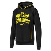 Borussia BVB Premium men sweatshirt, Colour: Black, Material: cotton, polyester, Show your colors and support your team with the Official Borussia Dortmund x PUMA Leisurewear CollectionThis stylish raglan crew neck sweater is inspired by varsity culture. It features the PUMA One Logo and club wording on the chest contrasted stripes on collar and cuffs woven label with Borussia Dortmund x PUMA graphicRegular Fit
