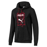 AC Milan DNA men hooded sweatshirt, Colour: Black, Material: cotton, polyester, Show your colors and support your team with the Official AC Milan x PUMA Leisurewear CollectionThis classic hoody features a modern twist of the iconic PUMA Shoe Tag logo with a club wording and a deconstructed football pitch, as well as a woven badge with the official club crest.Regular Fit