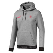 AC Milan FtblCulture Hoody Men T-Shirt, Colour: gray, Material: cotton, polyester, Show your colors and support your team with the Official AC Milan x PUMA Leisurewear CollectionThis stylish hoody features the PUMA One Logo and official club crest on the chest tapes on the hem with contrasted PUMA wordings graphics on the back inspired by this season s kitsRegular Fit