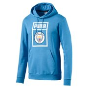 Manchester City MCFC Shoe Tag men sweatshirt, Colour: Blue, Material: cotton, polyester, Show your colors and support your team with the Official MCFC x PUMA Leisurewear CollectionThis classic hoody features a modern twist of the iconic PUMA Shoe Tag logo with a club wording and a deconstructed football pitch, as well as a woven badge with the official club crest.Regular Fit