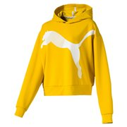PUMA MODERN SPORT women sweatshirt with hood, Colour: Yellow, Material: polyester, viscose, dryCELL: Fabrics wick moisture away from the skin to help keep you dry and comfortable Cat logo graphic rubber print (CW 20,45,26,14,01,02)Graphic and cat logo rubber print (CW 84,04,95,51)Relaxed fit