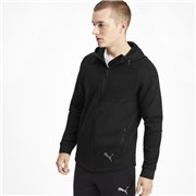 PUMA Evostripe FZ Hoody men sweatshirt, Color: Black, Material: cotton, polyester