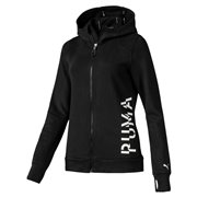 PUMA Logo Sweat women jacket, Color: Black, Material: polyester