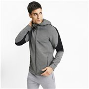 PUMA Evostripe FZ Hoody men sweatshirt, Color: gray, Material: cotton, polyester