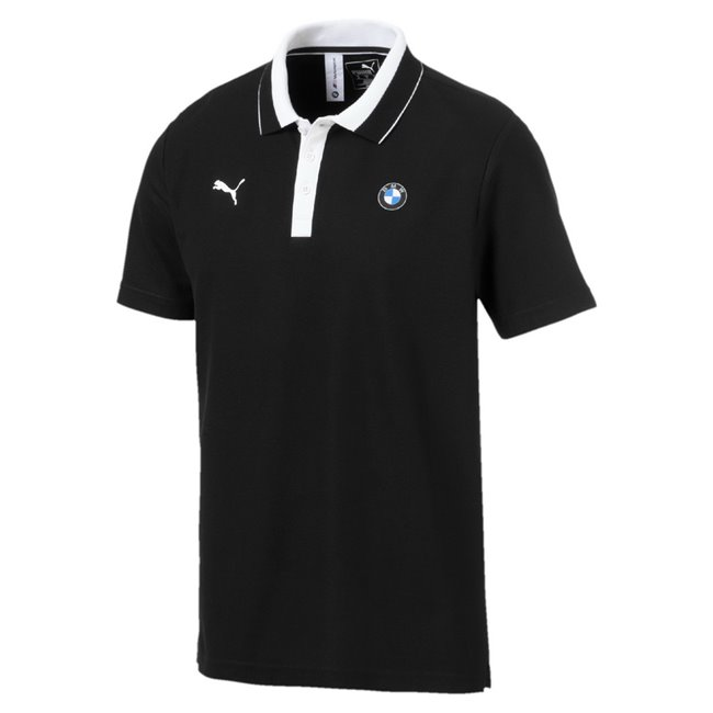 BMW MMS Polo men T-Shirt, Color: Black, Material: cotton, polyester