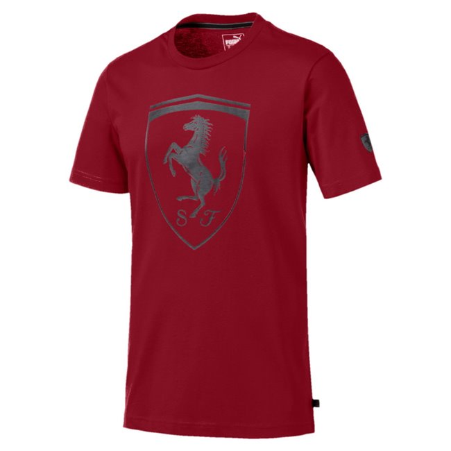 Ferrari Big Shield men T-Shirt, Color: burgundy, Material: cotton
