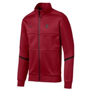 Ferrari T7 Track men sweatshirt, Color: burgundy, Material: cotton