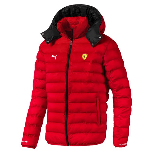Ferrari SF Eco PackLite winter jacket, Color: red, Material: nylon
