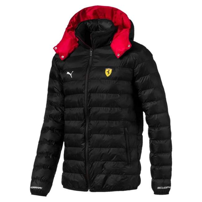 Ferrari SF Eco PackLite winter jacket, Color: Black, Material: Nylon