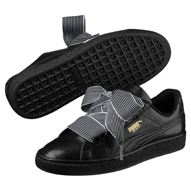 PUMA Basket Heart wns women shoes, Color: Black Material: Upper: synthetic, midsole: rubber, Sole: rubber