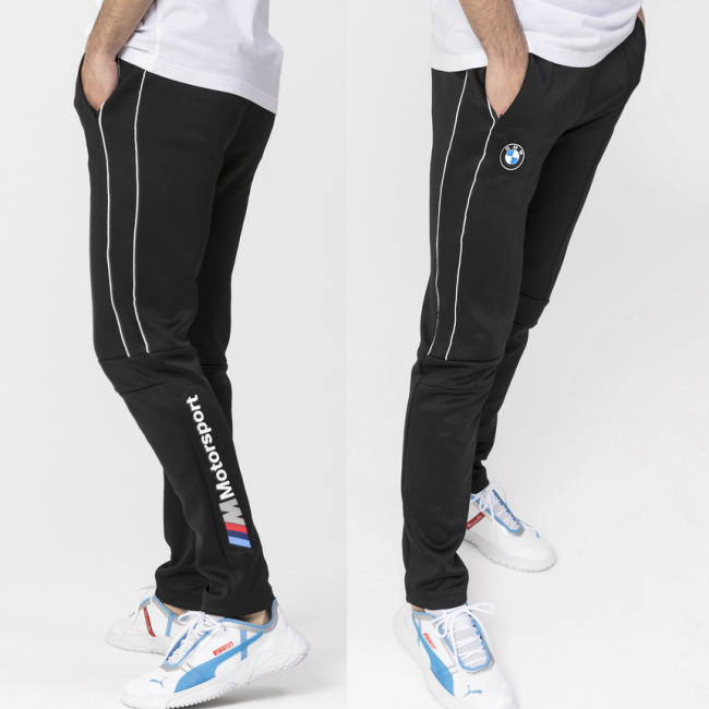 BMW MMS T7 Track men trousers, Color: Black, Material: polyester, cotton
