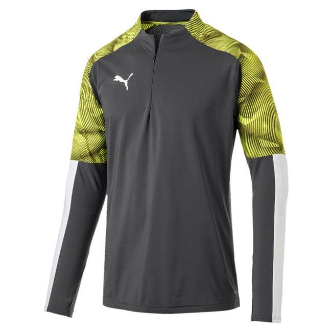 PUMA CUP Training 1 4 Zip Top sweatshirt, Color: dark gray, Material: 100% polyester