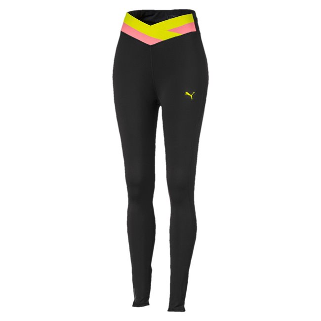 PUMA HIT Feel It 7 8 Tight women leggings, Colour: Black, Material: cotton, elastane, dryCELL: Highly functional materials draw sweat away from your skin and help keep you dry and comfortable during exerciseWrapping elastic waistband at front for compression5 pockets for storage versatilityBack calf opening with elastic strapFlat lock seams for less abrasion during exercise