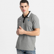 BMW MMS Polo men T-Shirt, Color: gray, Material: cotton, polyester