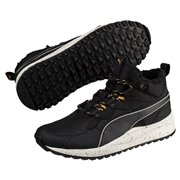 PUMA Pacer Next SB WTR shoes, Color: Black, Black, White, Material: Upper: Textile, Synthetic Leather, Midsole: EVA, Sole: Rubber