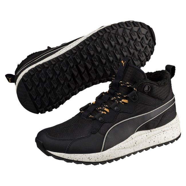 PUMA Pacer Next SB WTR shoes, Color: Black, Black, White, Material: Upper: Textile, Synthetic Leather, Midsole: EVA, Sole: Rubber