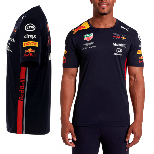 Aston Martin Red Bull Team Tee, Color: dark blue, Material: 100% polyester