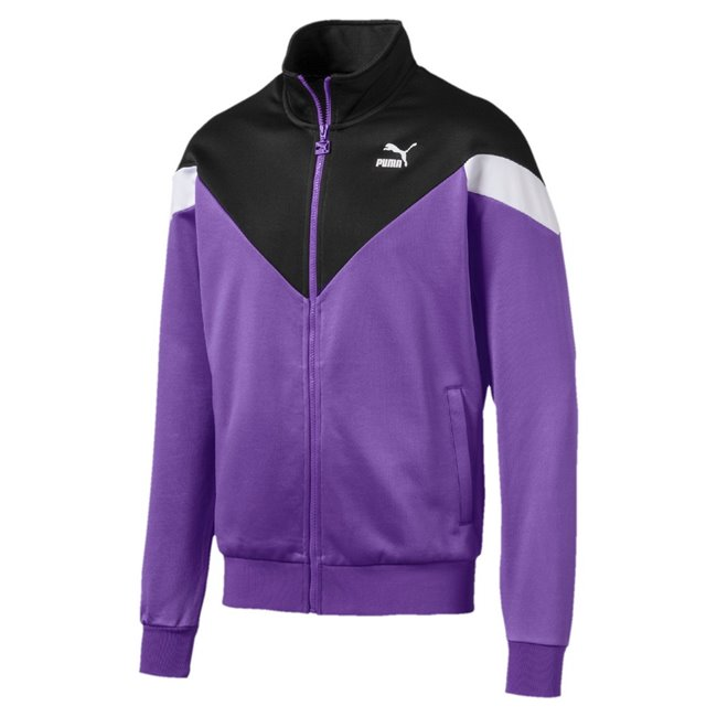 PUMA Iconic MCS Track men jacket, Colour: Black, Material: polyester, BMW Propeller badge Puma Cat Logo print M Motorsport print at back Zip pockets for secure storage solutions Hangerloop BMW M Motorsport inner woven label