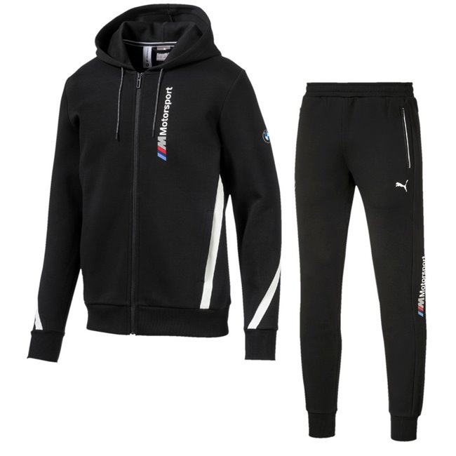 BMW hoodie and pants, Color: black, Material: cotton, polyester