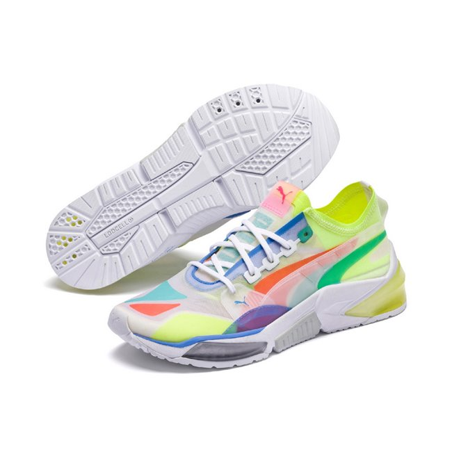 PUMA LQDCELL Optic Sheer men shoes, Color: white, Material: mesh, synthetic fibers