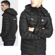 BMW MMS Eco PackLite winter jacket, Color: Black, Material: polyester, hooded, BMW logo, 2 side pockets