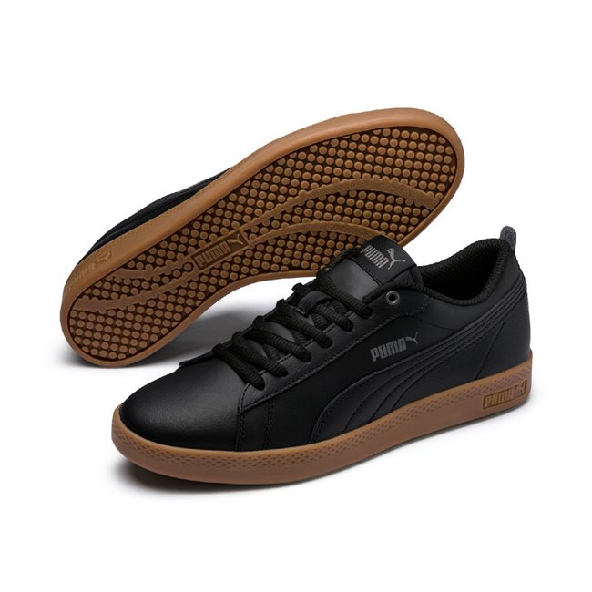PUMA Smash Wns v2 L women shoes, Color: black, Material: leather