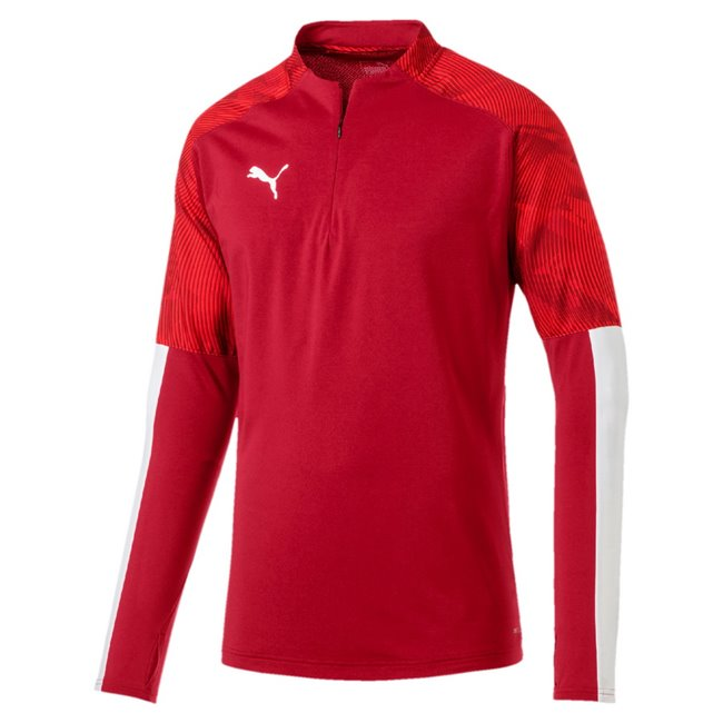 PUMA CUP Training 1 4 Zip Top sweatshirt, Color: red, Material: N / A