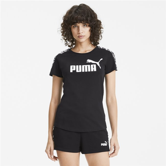 PUMA Amplified T-shirt, Color: black, Material: Cotton