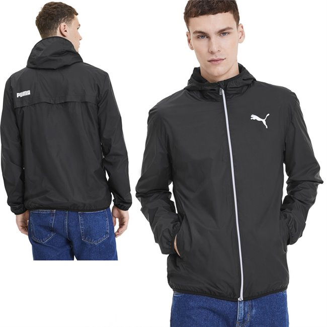 PUMA Essentials Solid Windbreaker jacket, Color: black, Material: 100% polyester