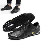 Ferrari SF Drift Cat 5 Ultra II shoes, Color: black, Material: Upper: synthetic fibers, Sole: rubber