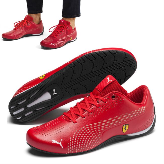 Ferrari SF Drift Cat 5 Ultra II shoes, Color: red, Material: Upper: synthetic fibers, Sole: rubber