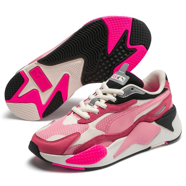 PUMA RS-X PUZZLE shoes, Color: pink Material: Upper: mesh, Midsole: PU, Sole: rubber
