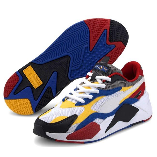 PUMA RS-X PUZZLE shoes, Color: white, Material: Upper: mesh, Midsole: PU, Sole: rubber