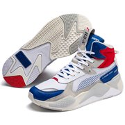 <p>PUMA RS-X Midtop Utility Ankle Sneakers, Color: white, blue, red, Material: synthetic leather</p>