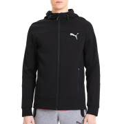 PUMA EVOSTRIPE hoodie, Color: black, Material: cotton, polyester