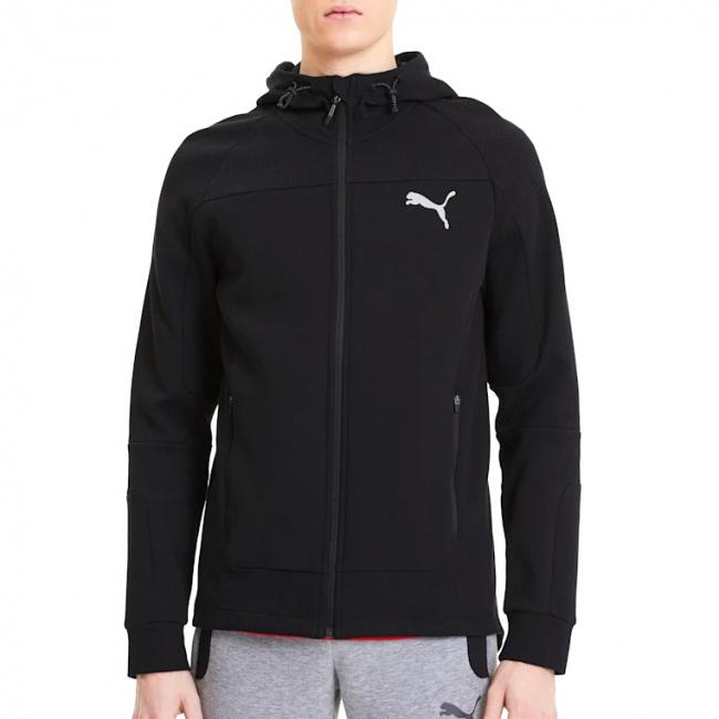 PUMA EVOSTRIPE hoodie, Color: black, Material: cotton, polyester