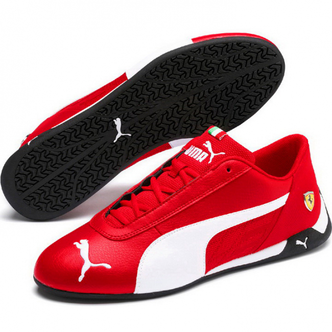Ferrari SF R-cat shoes, Color: red, Material: Upper: synthetic fibers, Sole: rubber