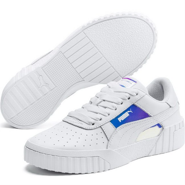 PUMA Cali Glow Wns shoes, Color: White Material: Upper: leather, synthetic fibers, Midsole: rubber, Sole: rubber