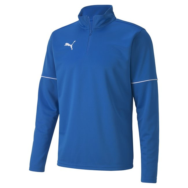 PUMA teamGOAL 1 4 Zip Top Core sweatshirt, Color: blue Material: 100% polyester
