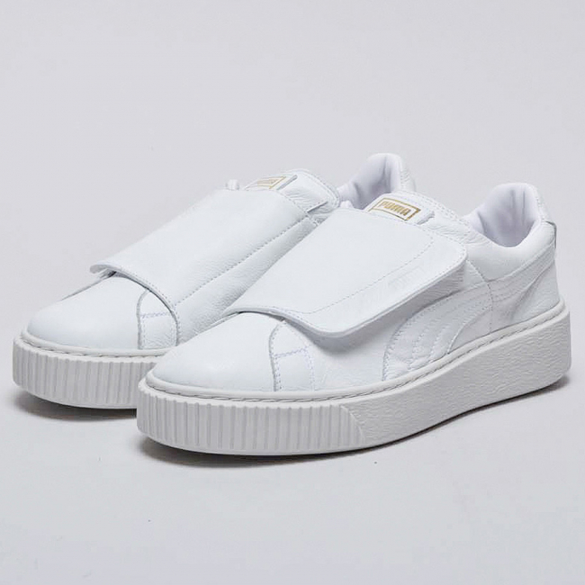 PUMA Basket Platform Strap Wns women shoes, Color: White, White Material: Upper: synthetic leather, midsole: rubber, Sole: rubber