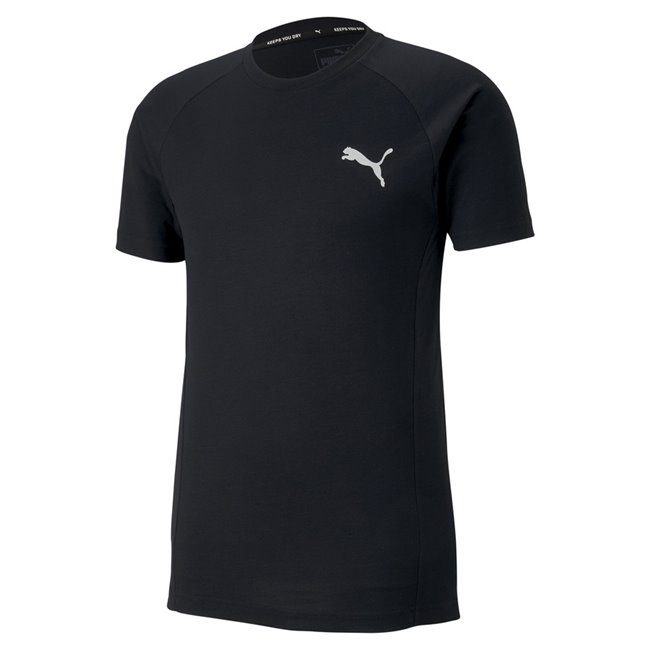 PUMA EVOSTRIPE T-shirt, Color: black, Material: polyester, viscose