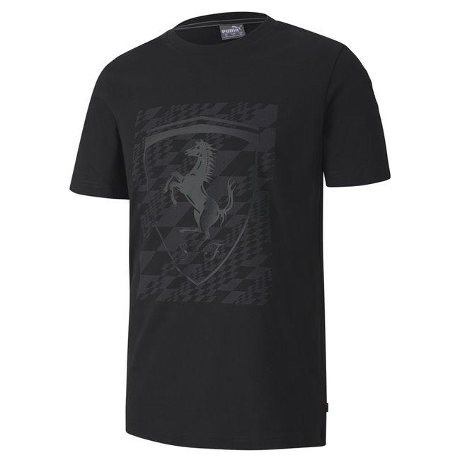 Ferrari Big Shield+ T-shirt, Color: black, Material: Cotton