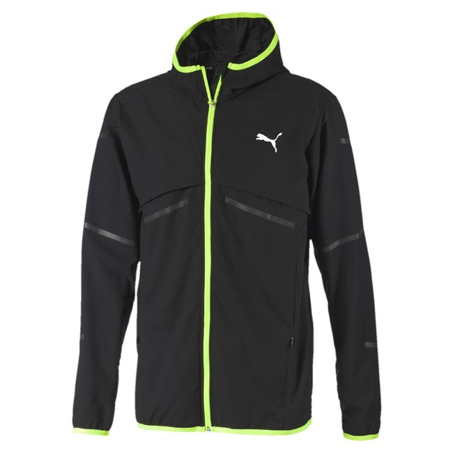 PUMA Runner ID hoodie, Color: black, Material: 100% polyester