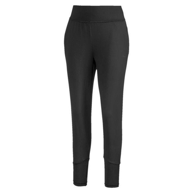 PUMA Studio Tapered trousers, Color: black, Material: polyester, elastane