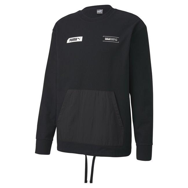 PUMA NU-TILITY Crew sweatshirt, Color: black, Material: Cotton